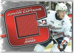 Boone Jenner 2011-12 ITG Captain-C Junior Captains Jerseys Silver #JC12 (50 made)
