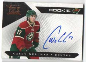 Casey Wellman 2010-11 Luxury Suite #157 Autograph RC /499