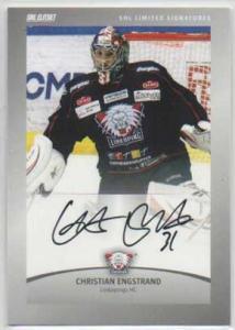 2012-13 SHL s.2 Limited Signatures #2 Christian Engstrand Linköpings HC /30