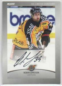 2012-13 SHL s.2 Limited Signatures #5 Robin Jonsson Luleå Hockey /30