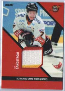 2012-13 SHL Jersey s.2 #4 Jan Sandström / Jan Sandstrom Luleå Hockey (RED/WHITE/YELLOW, 22/35)