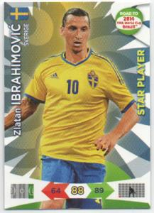 Star Player, 2013-14 Adrenalyn Road to the World Cup, Zlatan Ibrahimovic