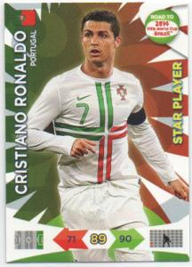 Star Player, 2013-14 Adrenalyn Road to the World Cup, Cristiano Ronaldo
