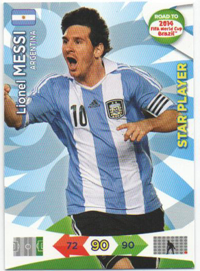 Star Player, 2013-14 Adrenalyn Road to the World Cup, Lionel Messi