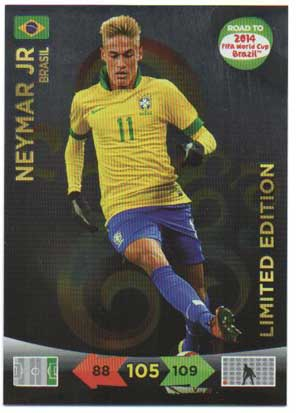 Limited Edition, 2013-14 Adrenalyn Road to the World Cup, Neymar Jr