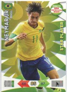 Star Player, 2013-14 Adrenalyn Road to the World Cup, Neymar Jr