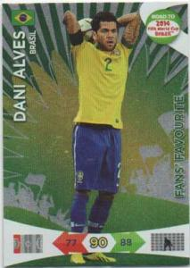 Fan Favourite, 2013-14 Adrenalyn Road to the World Cup, Dani Alves