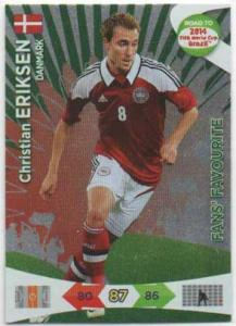 Fan Favourite, 2013-14 Adrenalyn Road to the World Cup, Christian Eriksen