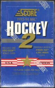 Sealed Box 1993-94 Score s.2
