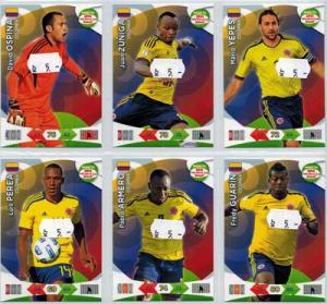 Base cards Colombia, 2013-14 Adrenalyn Road to the World Cup, Pick from list