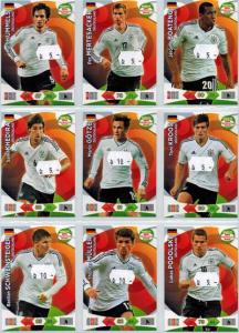 Base cards Germany, 2013-14 Adrenalyn Road to the World Cup, Pick from list