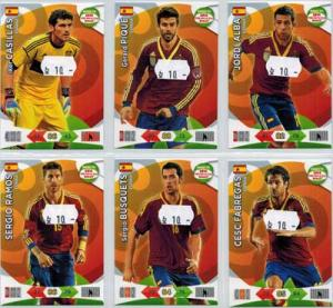 Base cards Spain, 2013-14 Adrenalyn Road to the World Cup, Pick from list