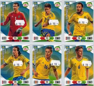 Base cards Sweden, 2013-14 Adrenalyn Road to the World Cup, Pick from list