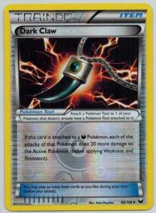 Pokémon, Dark Explorers, Dark Claw - 92/108 - Uncommon - Reverse Foil