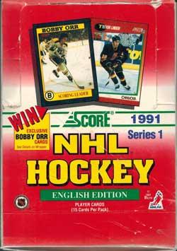Hel Box 1991-92 Score Serie 1, English Edition