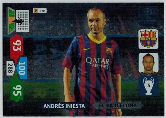 Game Changer, 2013-14 Adrenalyn Champions League, Andres Iniesta