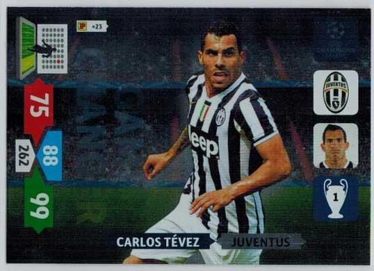 Game Changer, 2013-14 Adrenalyn Champions League, Carlos Tevez