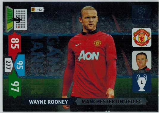 Game Changer, 2013-14 Adrenalyn Champions League, Wayne Rooney