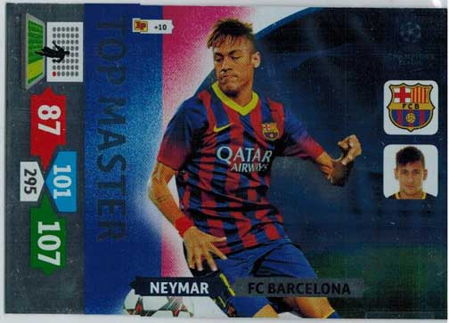 Top Master, 2013-14 Adrenalyn Champions League, Neymar