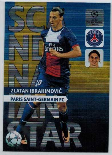 Scandinavian Star, 2013-14 Adrenalyn Champions League, Zlatan Ibrahimovic