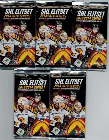 5 Packs 2013-14 SHL s.1