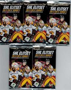 5 Packs 2013-14 SHL s.1