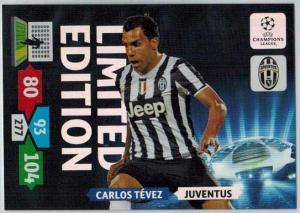 Limited Edition, 2013-14 Adrenalyn Champions League, Carlos Tevez