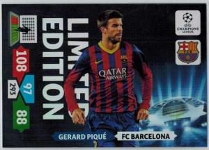 Limited Edition, 2013-14 Adrenalyn Champions League, Gerard Pique