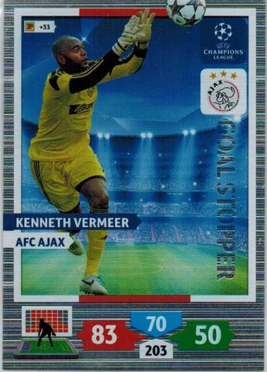 Goal Stopper, 2013-14 Adrenalyn Champions League, Kenneth Vermeer