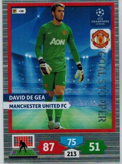 Goal Stopper, 2013-14 Adrenalyn Champions League, David De Gea
