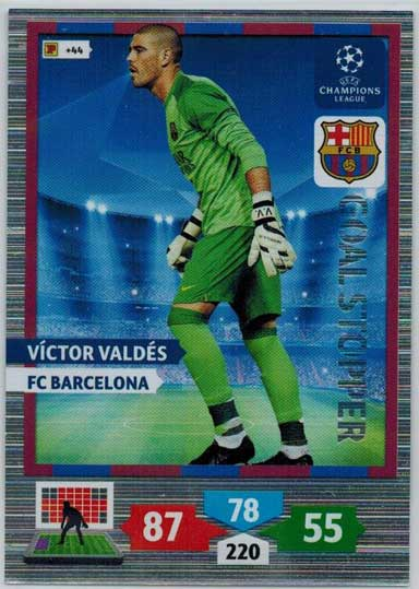 Goal Stopper, 2013-14 Adrenalyn Champions League, Victor Valdes