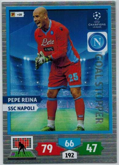 Goal Stopper, 2013-14 Adrenalyn Champions League, Pepe Reina