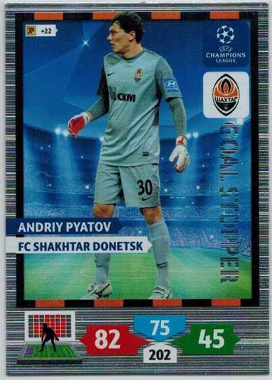 Goal Stopper, 2013-14 Adrenalyn Champions League, Andriy Pyatov