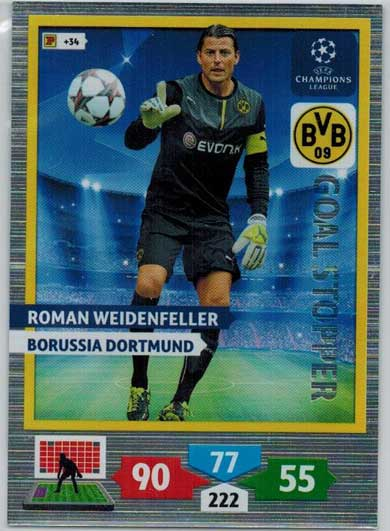 Goal Stopper, 2013-14 Adrenalyn Champions League, Roman Weidenfeller