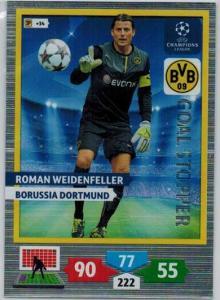 Goal Stopper, 2013-14 Adrenalyn Champions League, Roman Weidenfeller