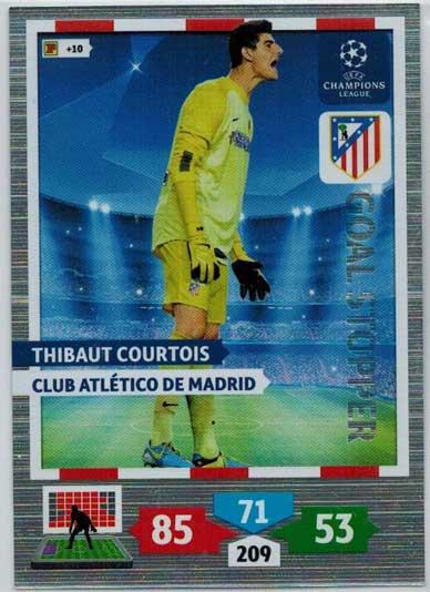Goal Stopper, 2013-14 Adrenalyn Champions League, Thibaut Courtois