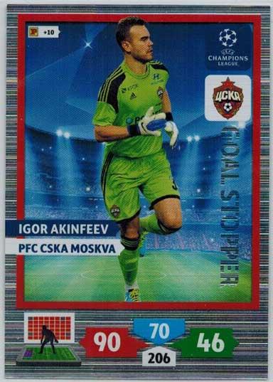 Goal Stopper, 2013-14 Adrenalyn Champions League, Igor Akinfeev
