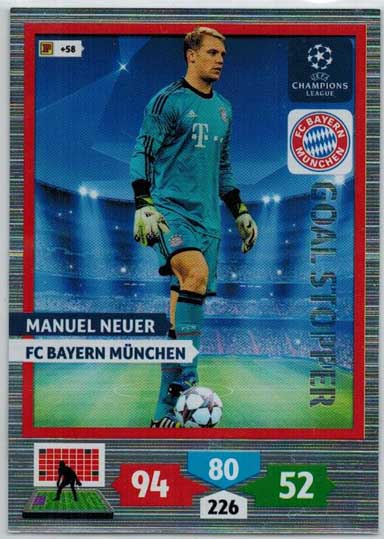 Goal Stopper, 2013-14 Adrenalyn Champions League, Manuel Neuer