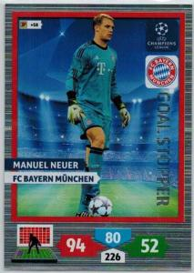 Goal Stopper, 2013-14 Adrenalyn Champions League, Manuel Neuer