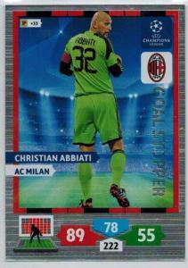 Goal Stopper, 2013-14 Adrenalyn Champions League, Christian Abbiati
