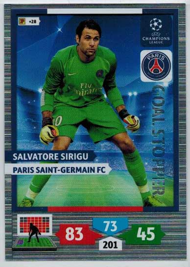 Goal Stopper, 2013-14 Adrenalyn Champions League, Salvatore Sirigu