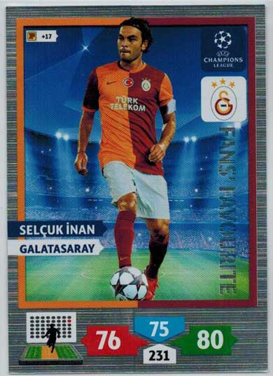 Fans Favourite, 2013-14 Adrenalyn Champions League, Selcuk Inan