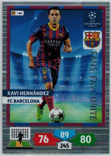 Fans Favourite, 2013-14 Adrenalyn Champions League, Xavi Hernandez