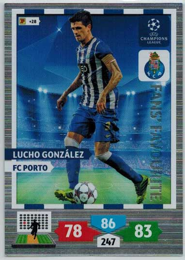 Fans Favourite, 2013-14 Adrenalyn Champions League, Lucho Gonzalez