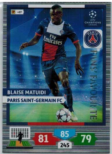 Fans Favourite, 2013-14 Adrenalyn Champions League, Blaise Matuidi