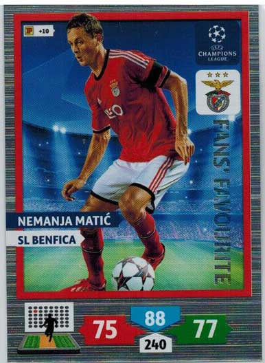 Fans Favourite, 2013-14 Adrenalyn Champions League, Nemanja Matic