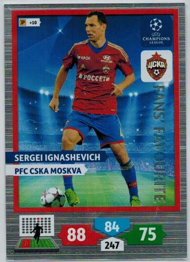 Fans Favourite, 2013-14 Adrenalyn Champions League, Sergei Ignashevich