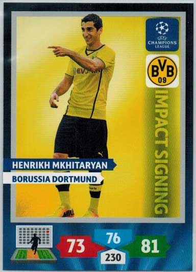 Impacts Signings, 2013-14 Adrenalyn Champions League, Henrikh Mkhitaryan