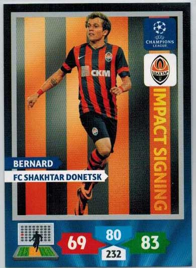 Impacts Signings, 2013-14 Adrenalyn Champions League, Bernard