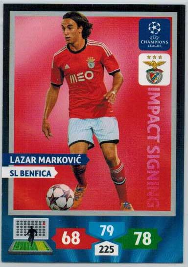 Impacts Signings, 2013-14 Adrenalyn Champions League, Lazar Markovic